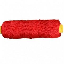 Metselkoord nylon rood 50M