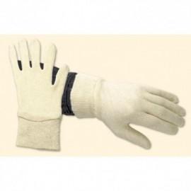Werkhandschoen Keperdoek wit (dik)