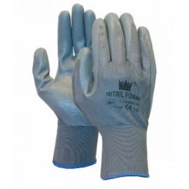 Handschoen blauw /foam nitril maat 9/L