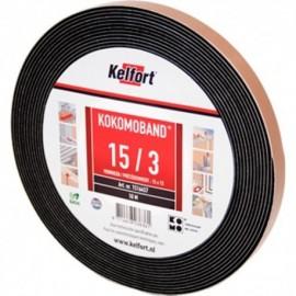 Compriband KOMO zwart 15x15mm 10M