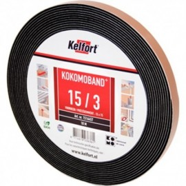 Compriband KOMO zwart 15x20mm 2x8M
